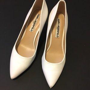 Karl Lagerfeld White Heels Size 6
